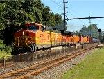 BNSF 4793, 6415, 4122 on K040 crude oil train